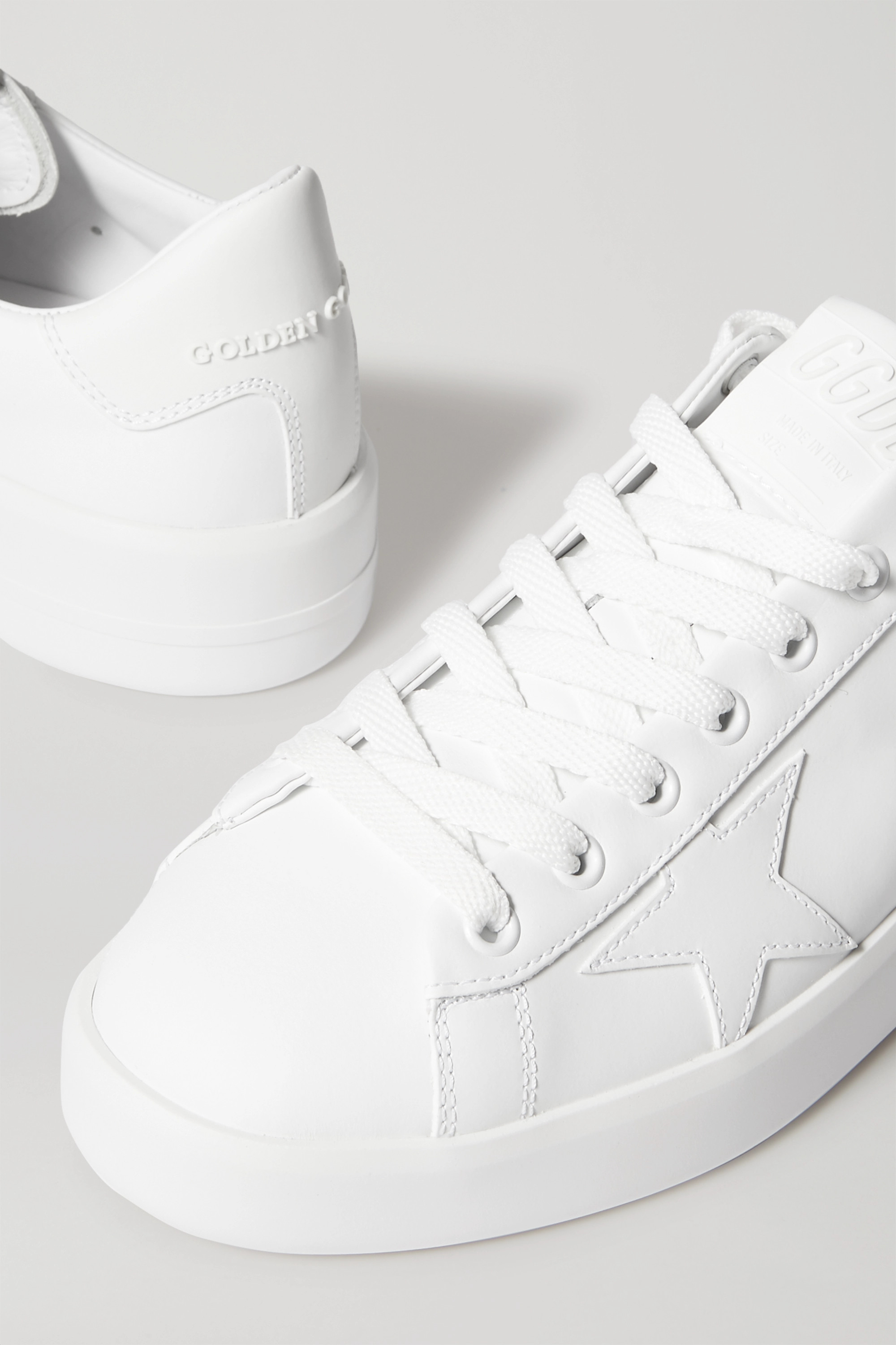 White Pure Star leather sneakers