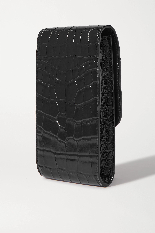Balenciaga B Dot croc-effect leather shoulder bag