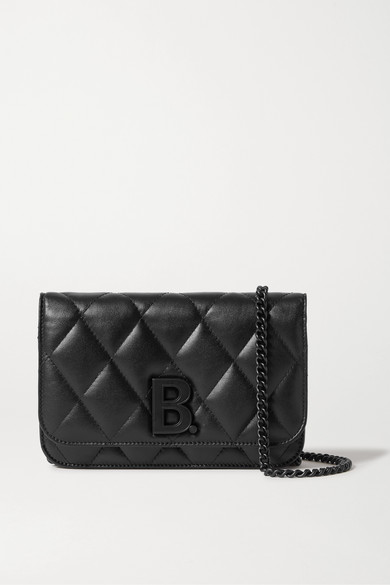 B Dot Quilted Leather Shoulder Bag by Balenciaga