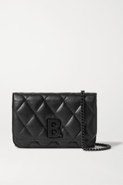 B Dot quilted leather shoulder bag
