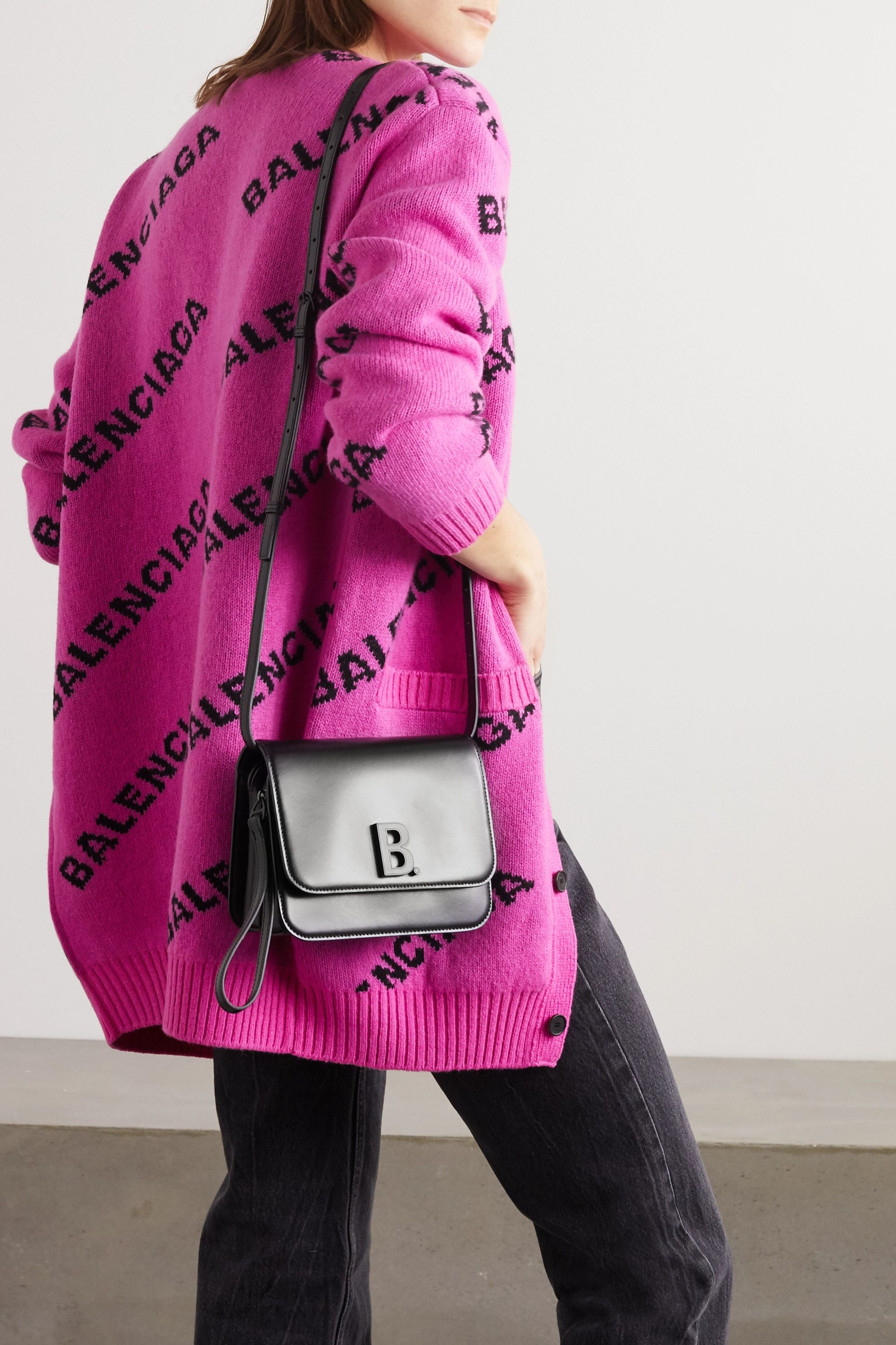 Balenciaga B Dot leather shoulder bag