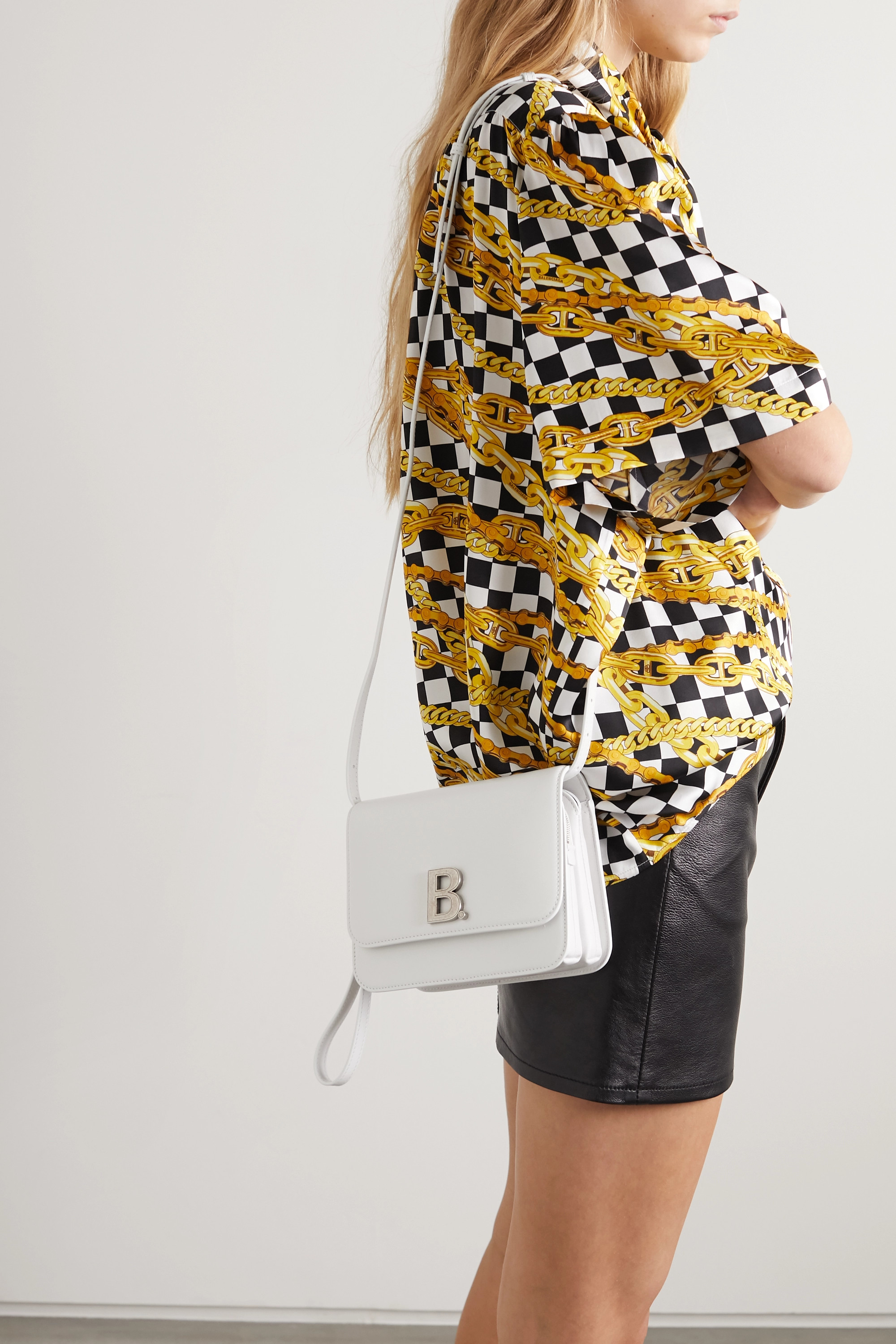 Balenciaga B Dot small leather shoulder bag