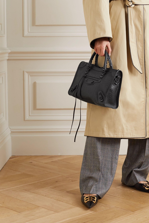 Balenciaga Classic City small croc-effect leather tote