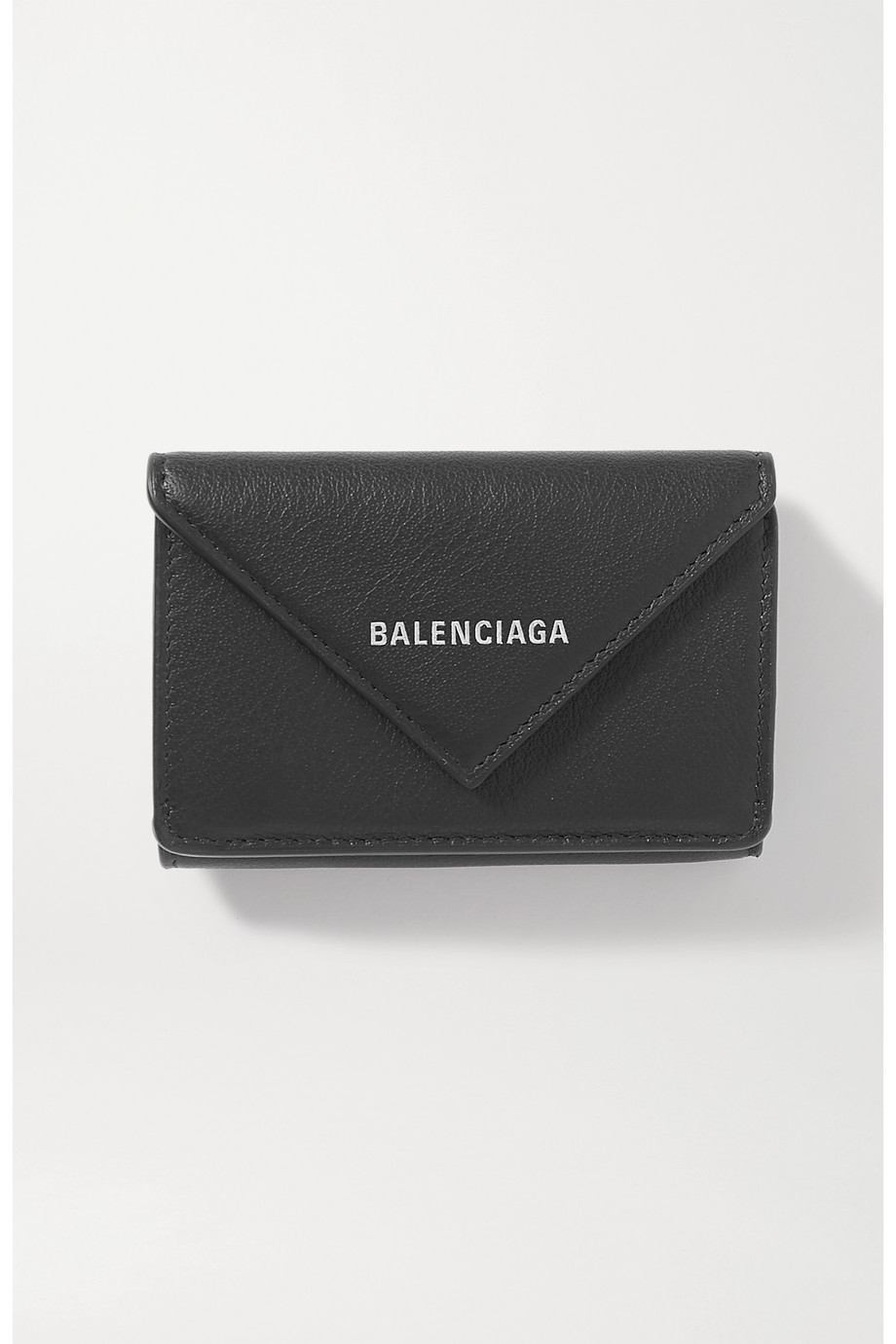 Balenciaga Papier mini printed textured-leather wallet