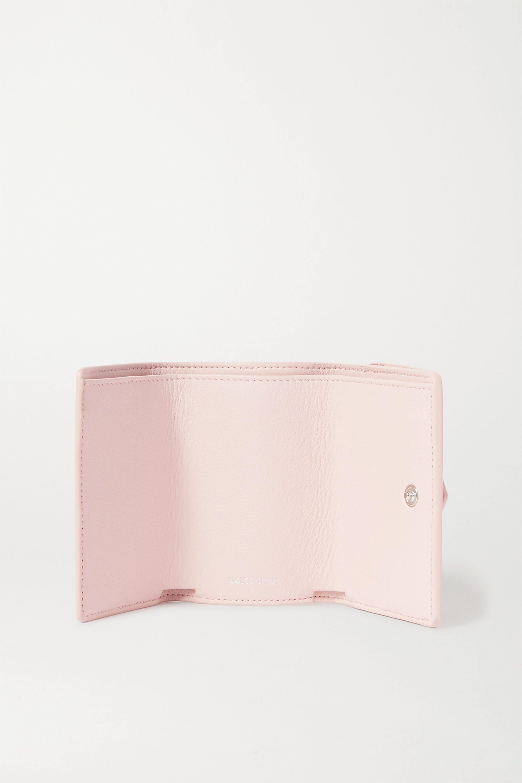 Balenciaga Papier mini printed textured-leather wallet
