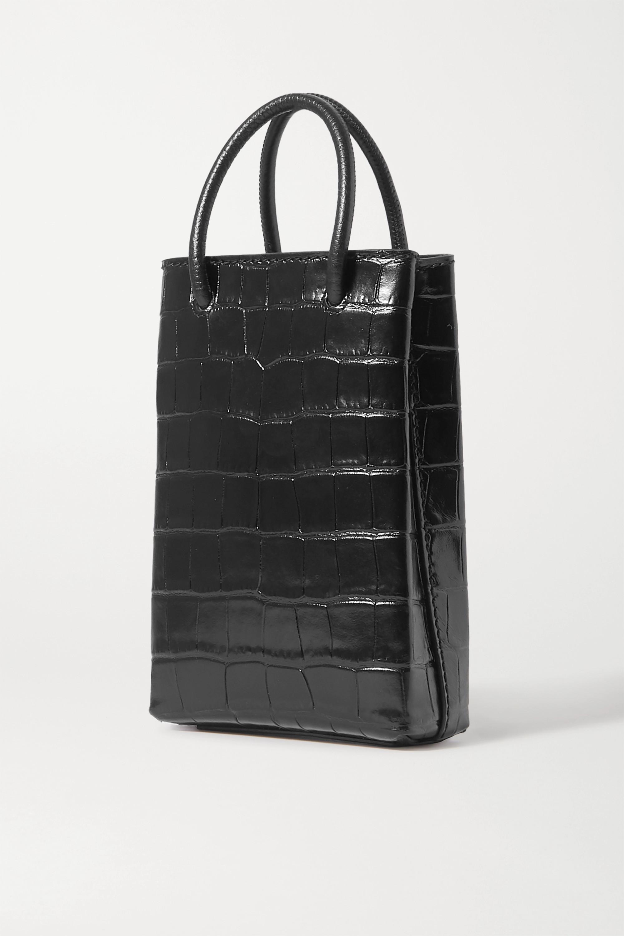 Balenciaga Shopping printed textured-leather shoulder bag