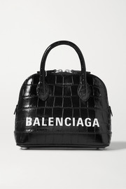 Balenciaga Ville XXS AJ printed croc-effect leather tote