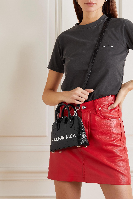 Balenciaga Ville XXS AJ printed croc-effect leather tote