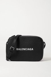 Balenciaga Everyday printed textured-leather shoulder bag