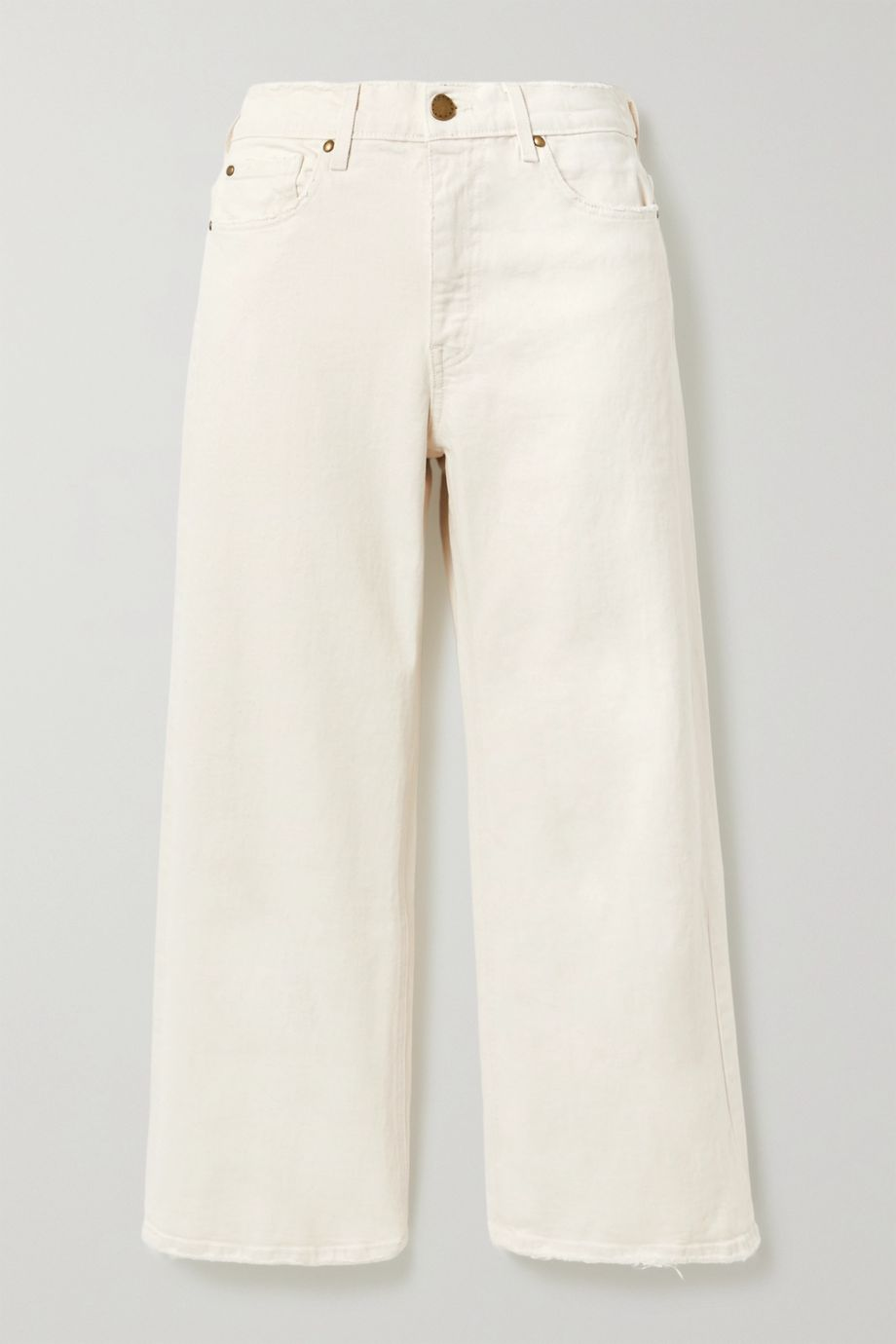 The Great The Rider high-rise wide-leg jeans