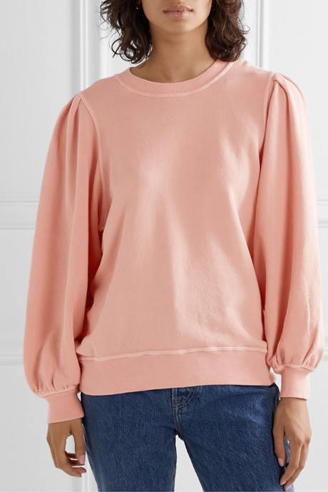 The Pleat Sleeve cotton-jersey sweatshirt