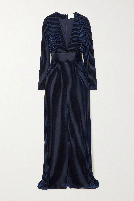 Galvan Devoré-velvet gown