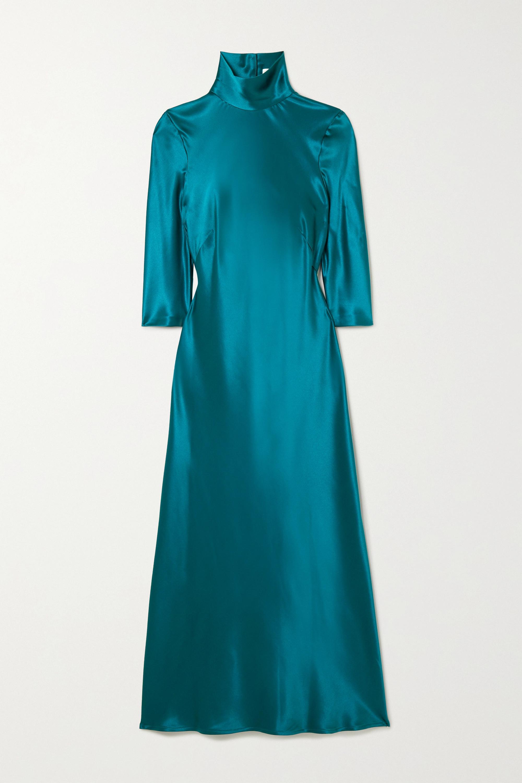 Galvan Margot silk-satin midi dress