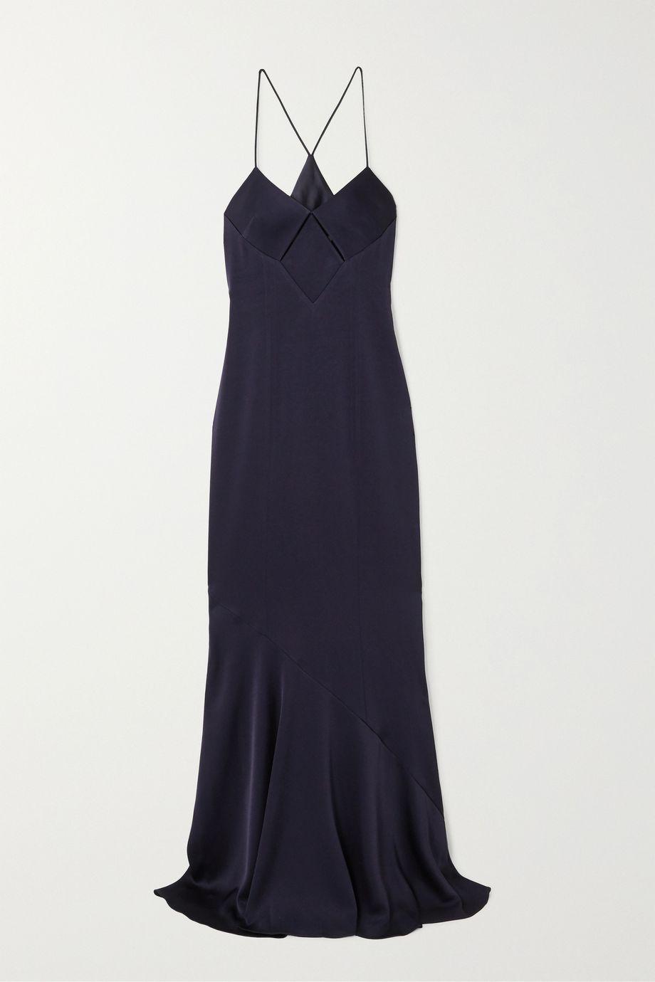 Galvan Cutout satin gown
