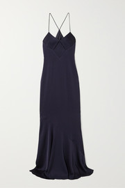 Galvan Cutout satin gown