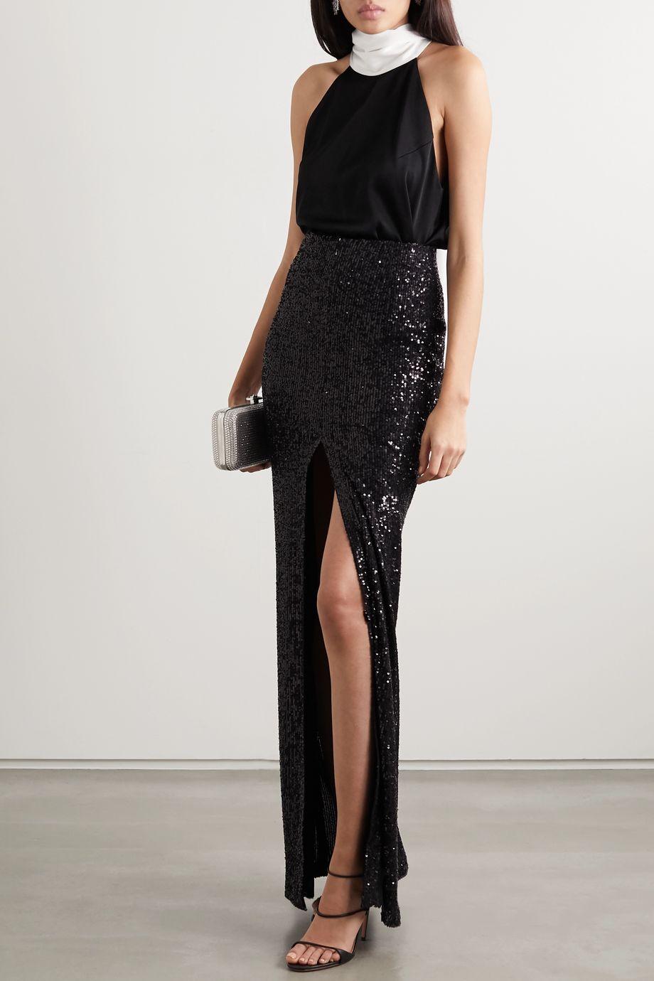 Galvan Modern Love sequined tulle maxi skirt