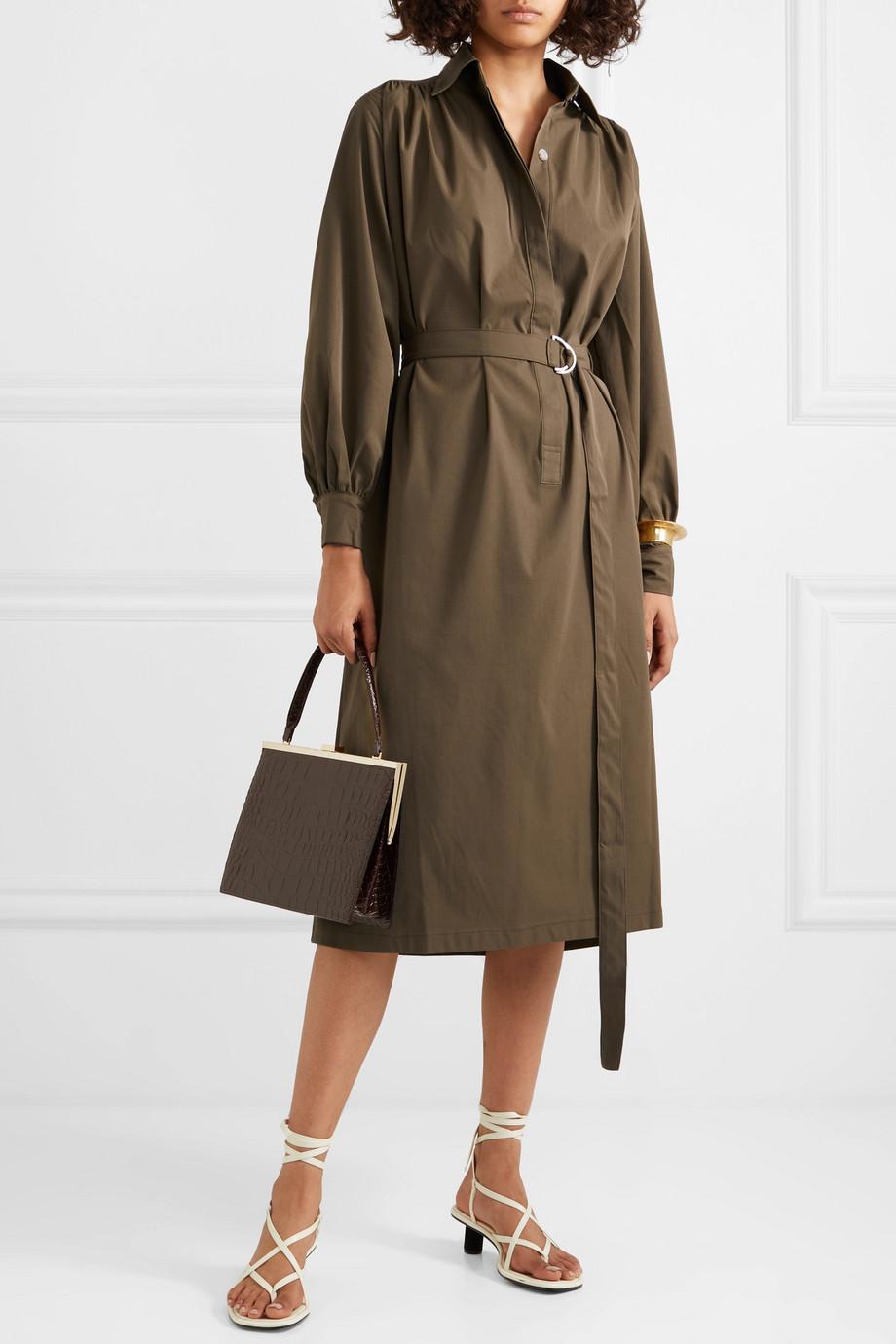 Frankie Shop Loulou twill midi dress