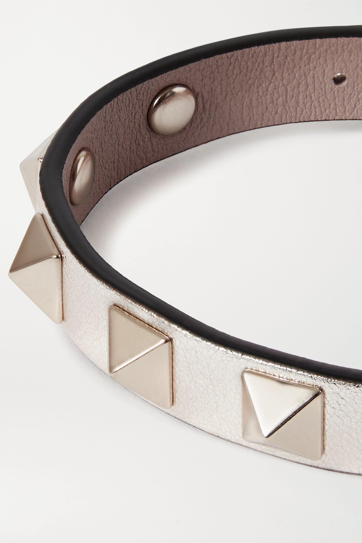 Valentino Valentino Garavani Rockstud metallic leather bracelet
