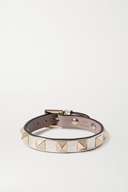 Valentino Garavani Rockstud metallic leather bracelet