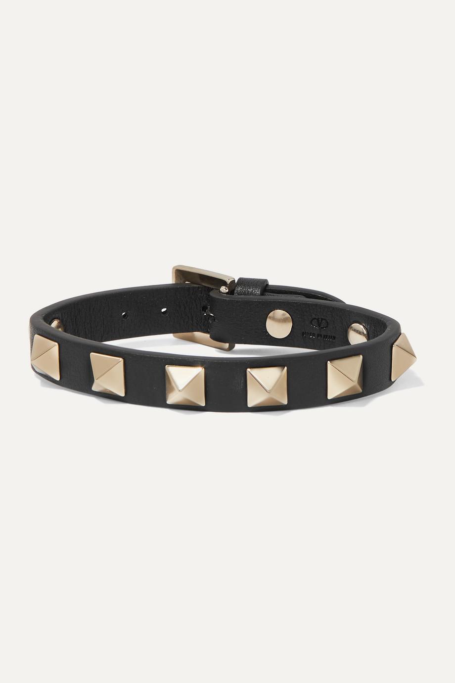 Valentino Valentino Garavani The Rockstud leather bracelet