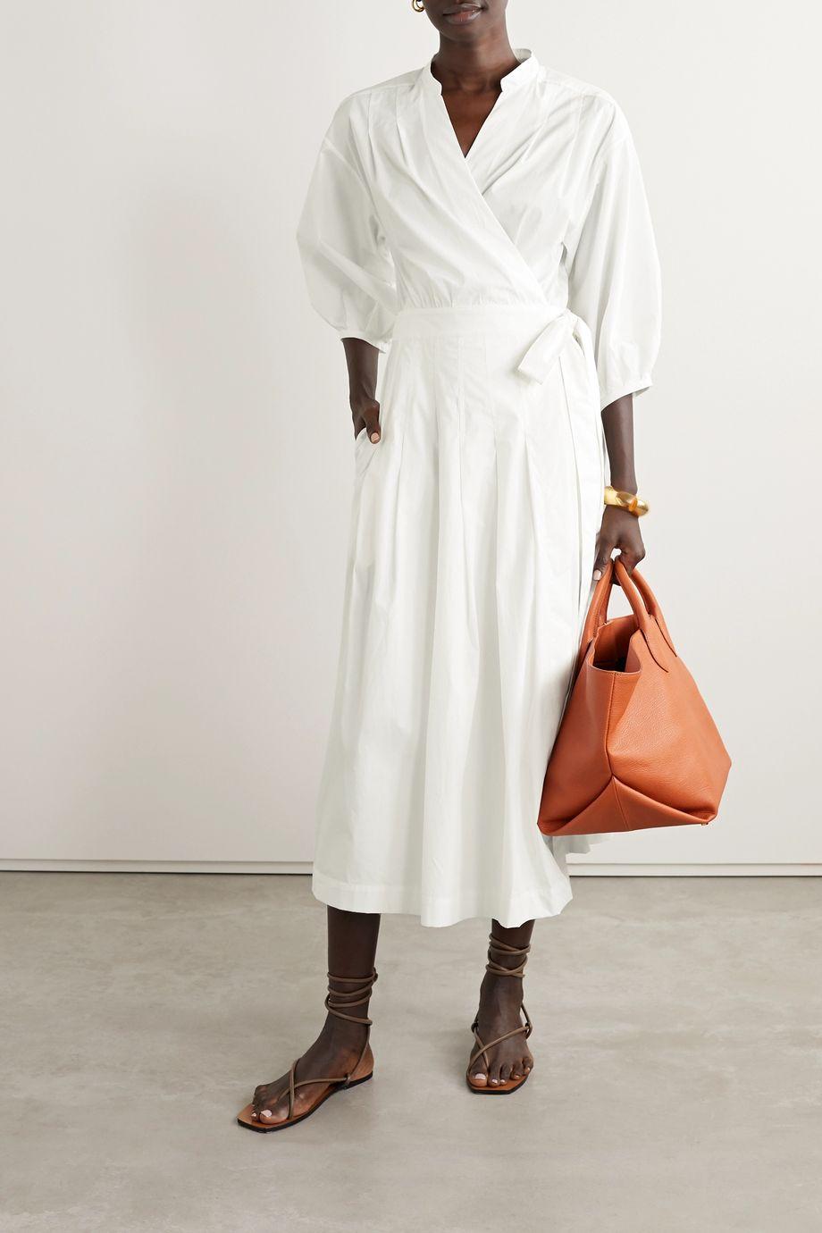 Three Graces London Delmare cotton-poplin wrap dress