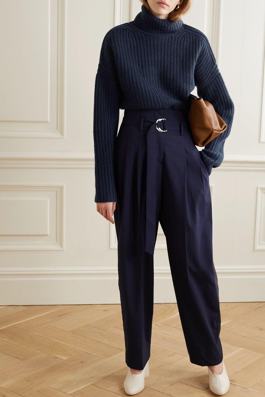 La Ligne Ribbed cashmere turtleneck sweater