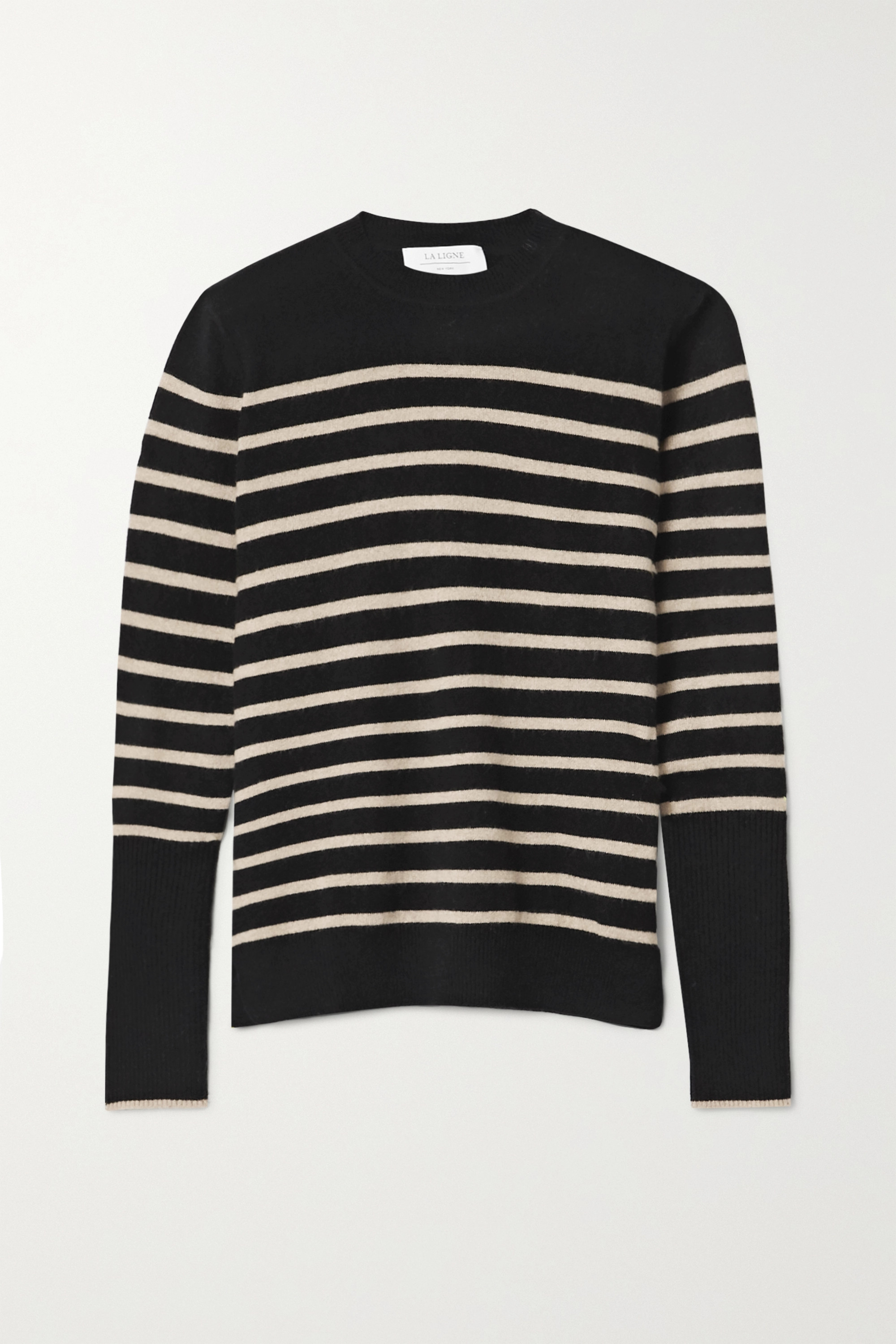 AAA Lean Lines striped cashmere sweater