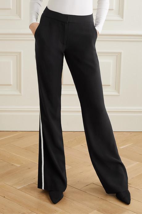 Le Tuxedo two-tone crepe wide-leg pants