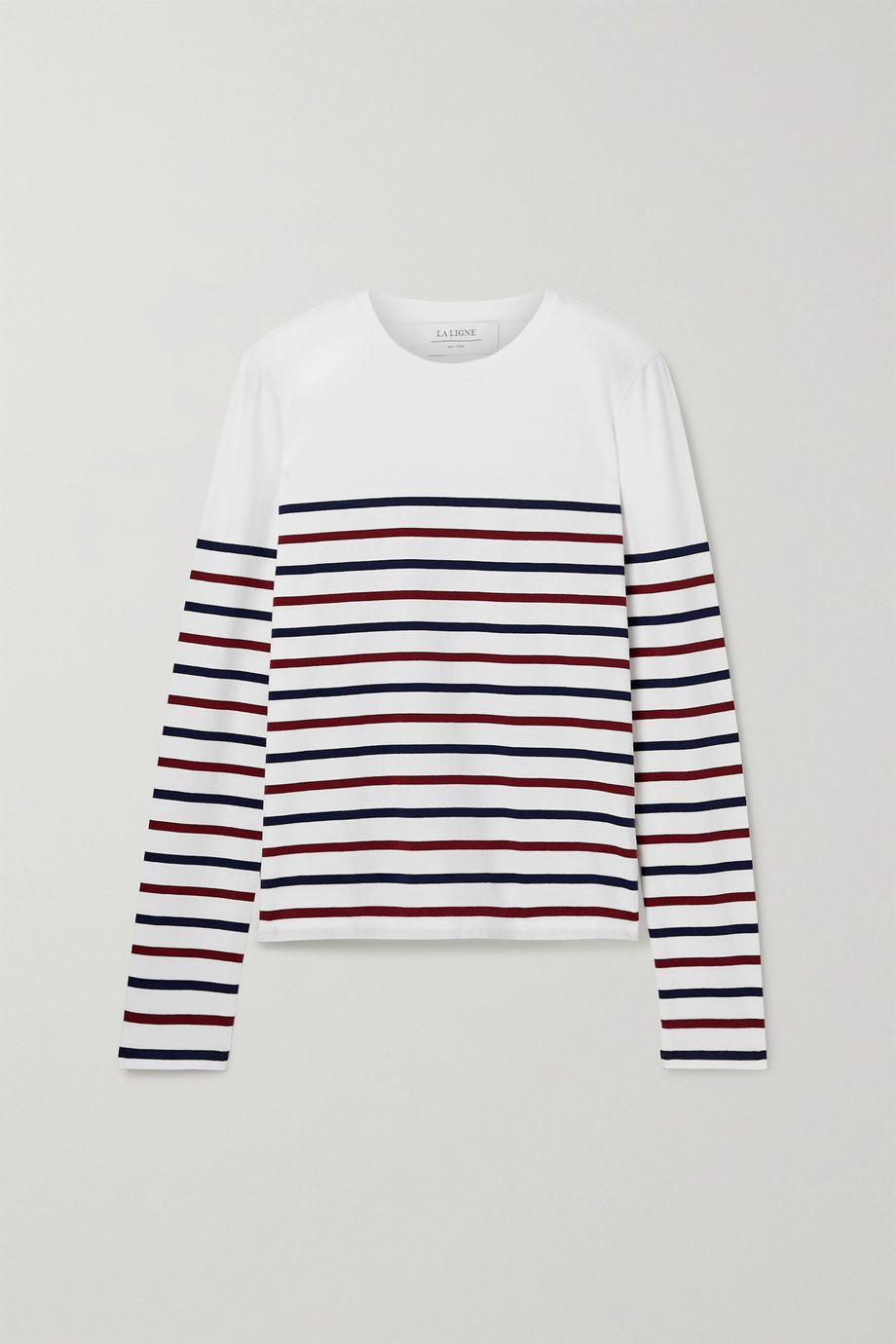 La Ligne Lean Lines striped cotton-jersey top