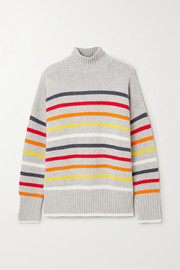 La Ligne Marin striped wool and cashmere-blend turtleneck sweater