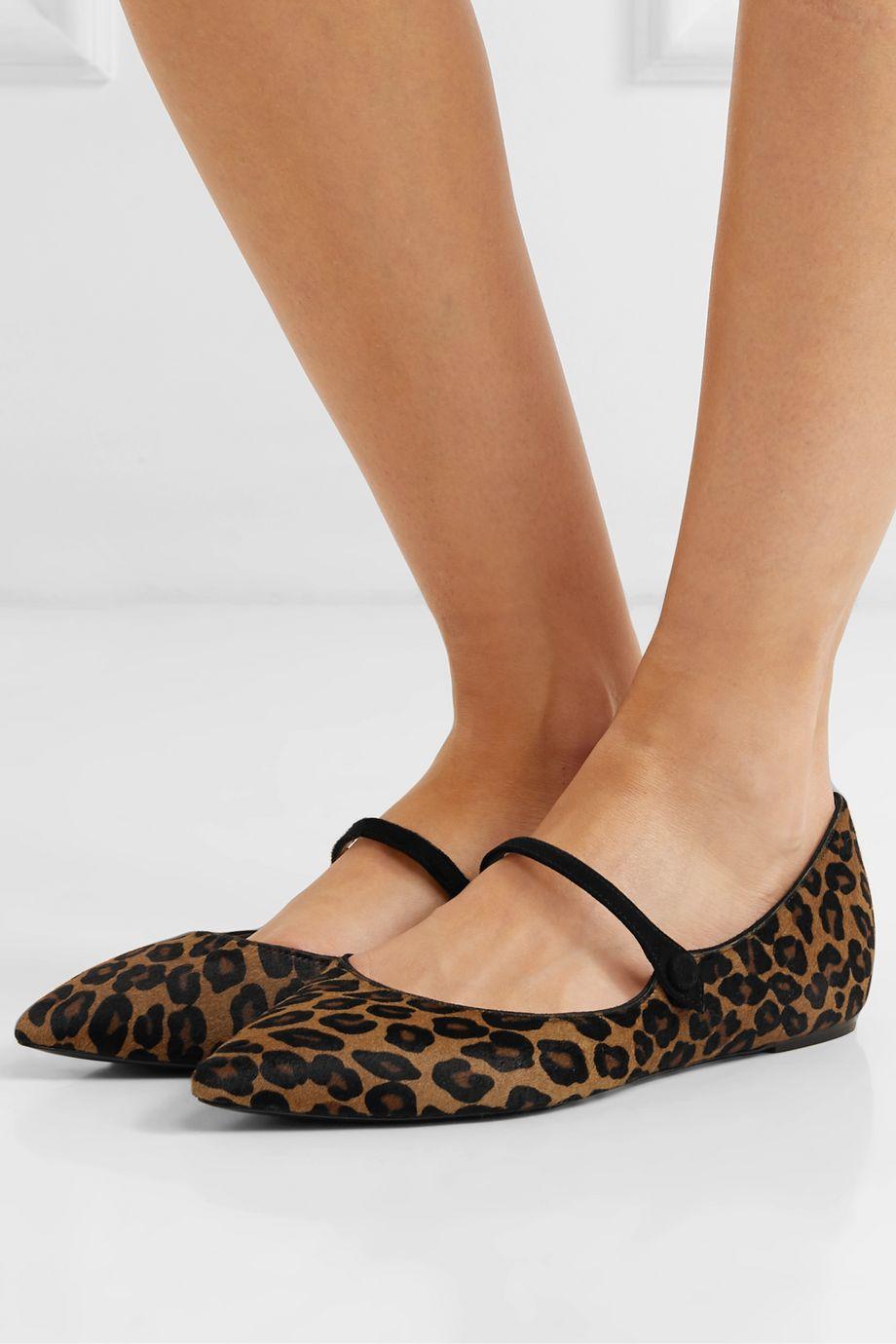 Tabitha Simmons Hermione calf hair point-toe flats