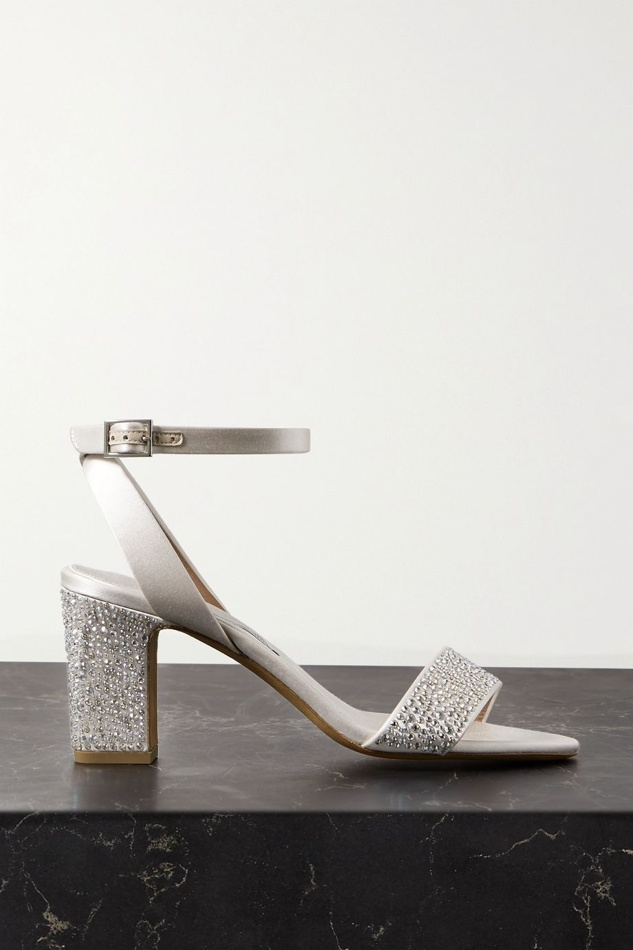 Tabitha Simmons Leticia Swarovski crystal-embellished satin sandals