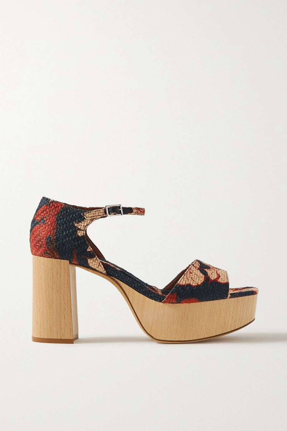 Tabitha Simmons + Johanna Ortiz Patton floral-print raffia platform sandals