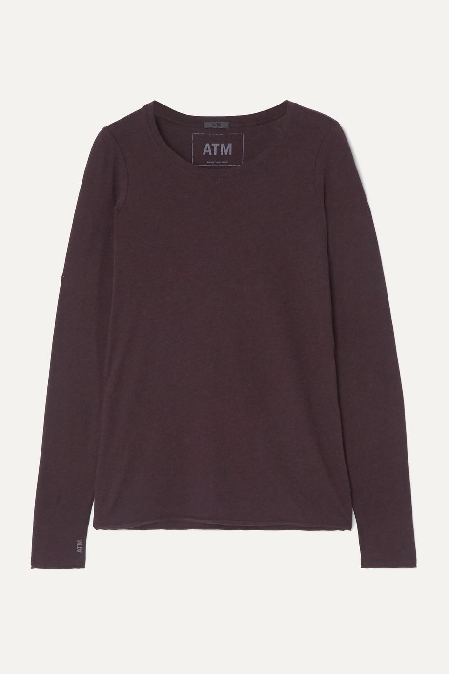 ATM Anthony Thomas Melillo Slub Pima cotton and modal-blend jersey top