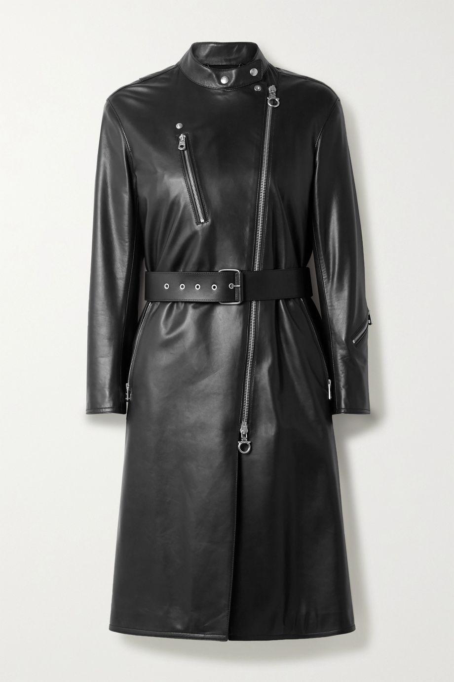 Salvatore Ferragamo Belted leather coat