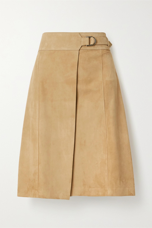 Salvatore Ferragamo Suede wrap skirt