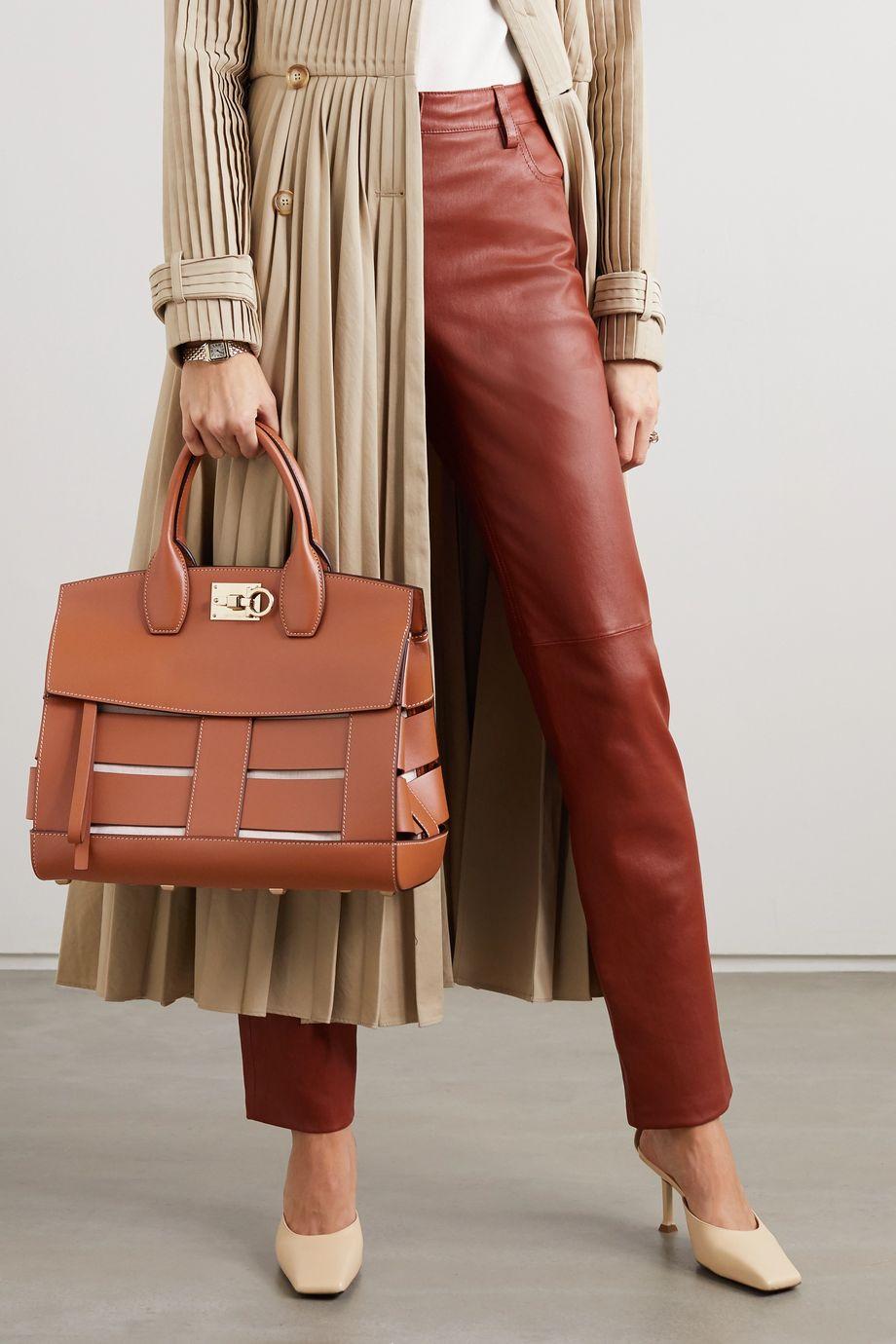 Salvatore Ferragamo The Studio Cage leather tote