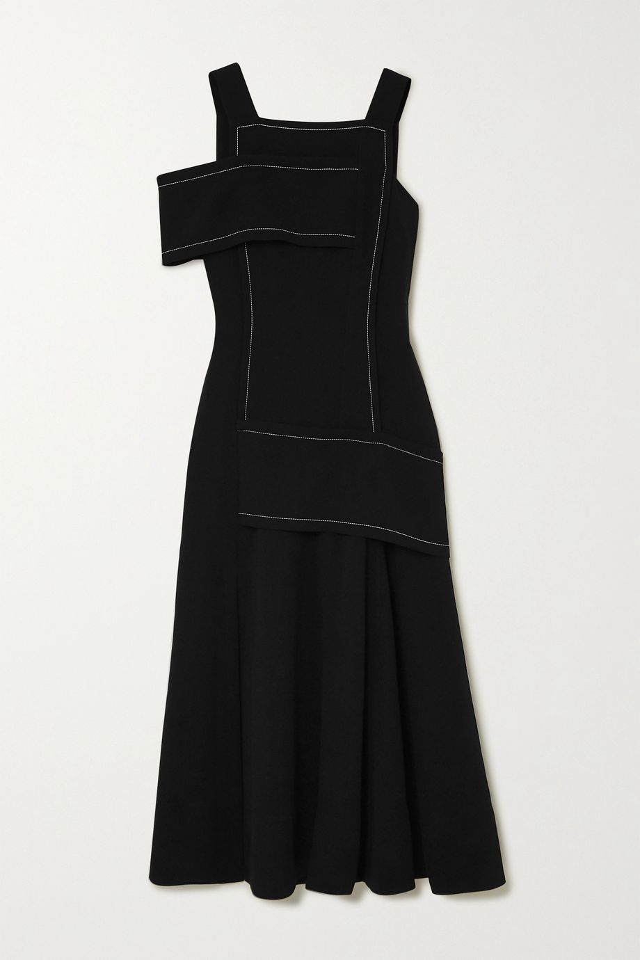 3.1 Phillip Lim One-shoulder paneled crepe maxi dress