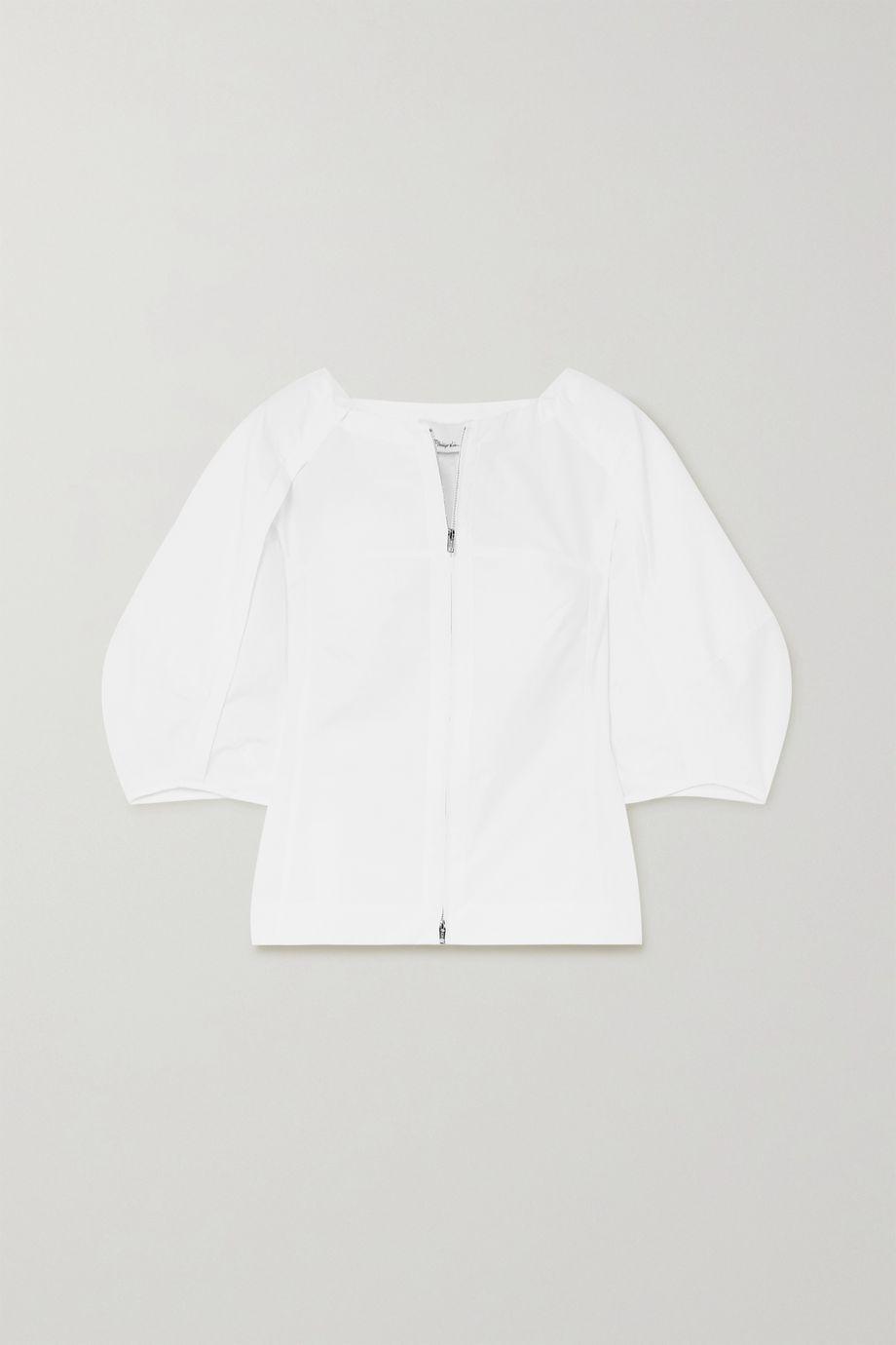 3.1 Phillip Lim Paneled cotton-blend top