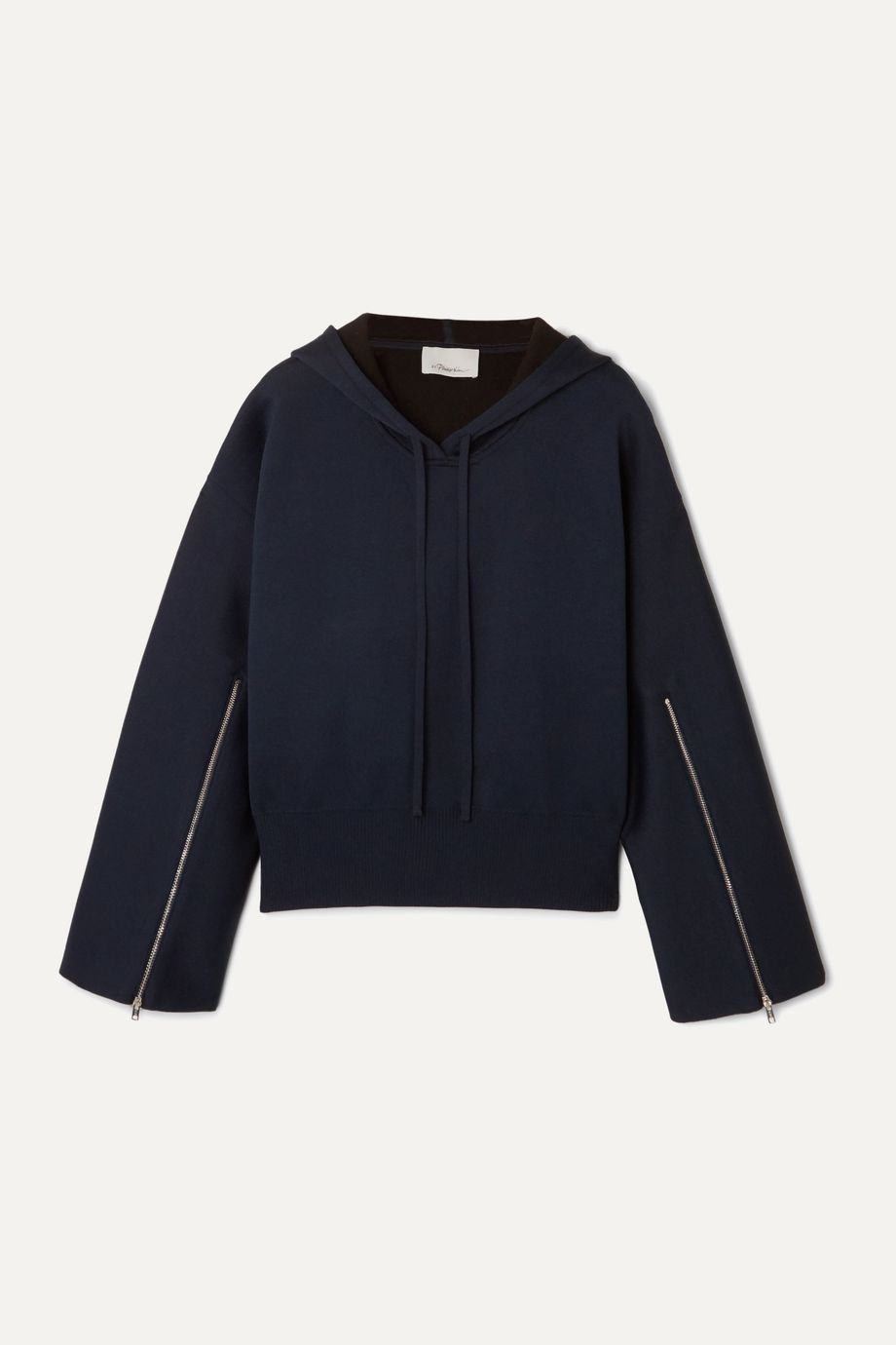 3.1 Phillip Lim Zip-detailed wool-blend hoodie