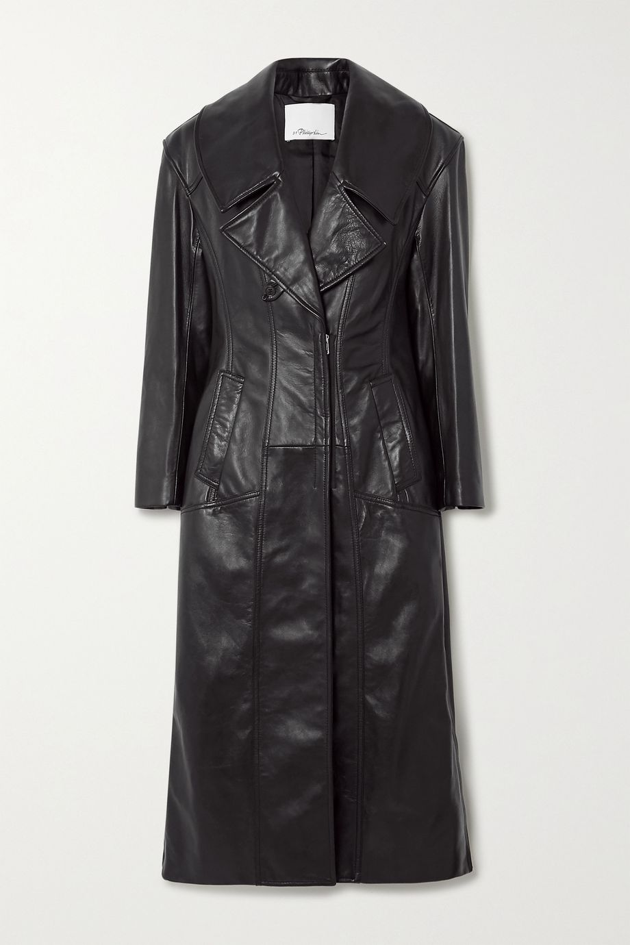 3.1 Phillip Lim Zip-detailed paneled leather coat