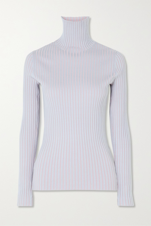 Sies Marjan Victoire ribbed stretch-silk turtleneck sweater