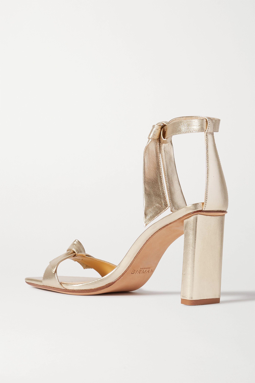 Alexandre Birman Clarita bow-embellished metallic leather sandals