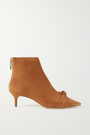 Alexandre Birman Clarita bow-embellished suede ankle boots