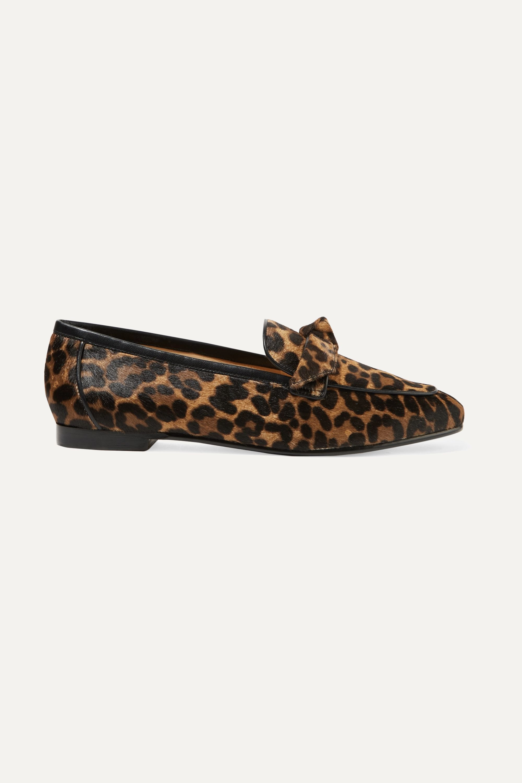 Leopard print Becky bow-embellished