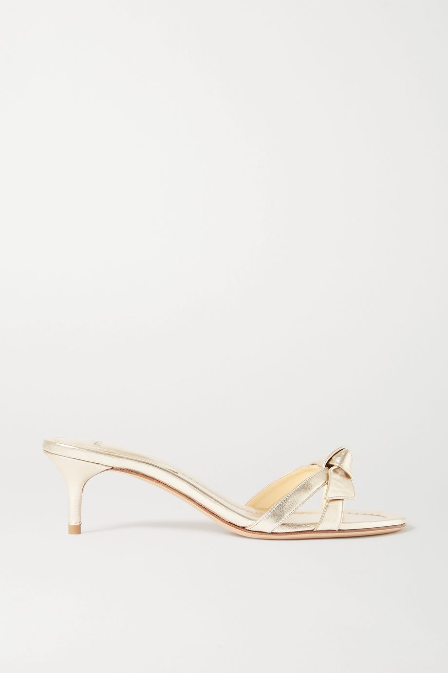 Alexandre Birman Clarita bow-embellished metallic leather mules