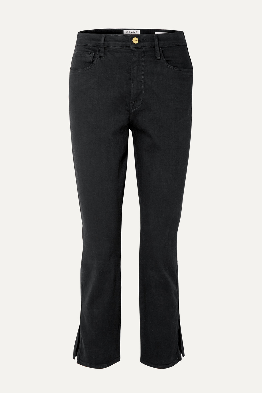 FRAME Le Sylvie cropped high-rise straight-leg jeans