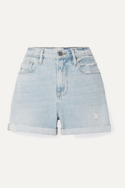 Le Beau Jeansshorts in Distressed-Optik