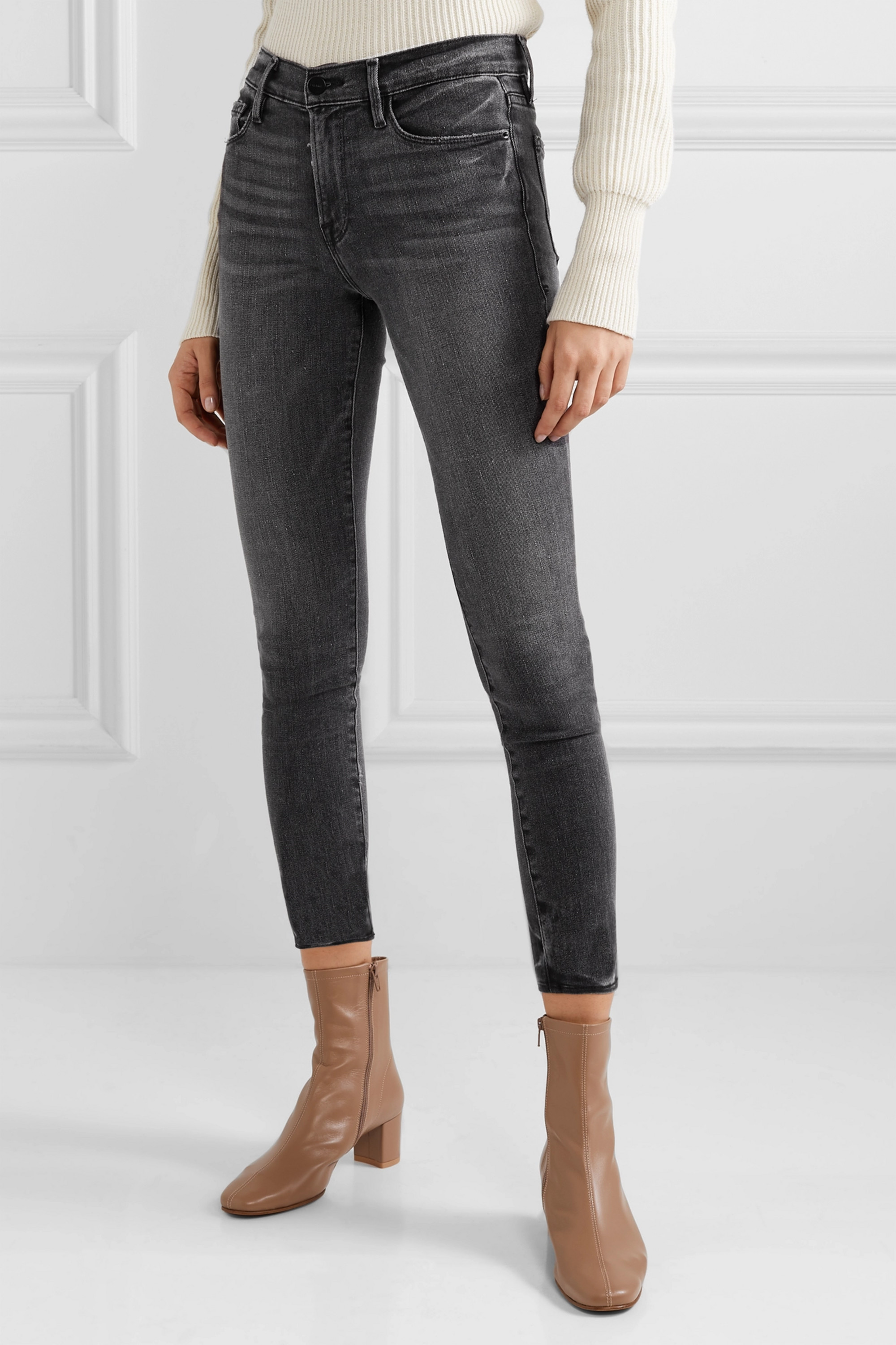 FRAME Le High cropped skinny jeans