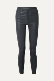 Pantalon skinny en cuir stretch Le High